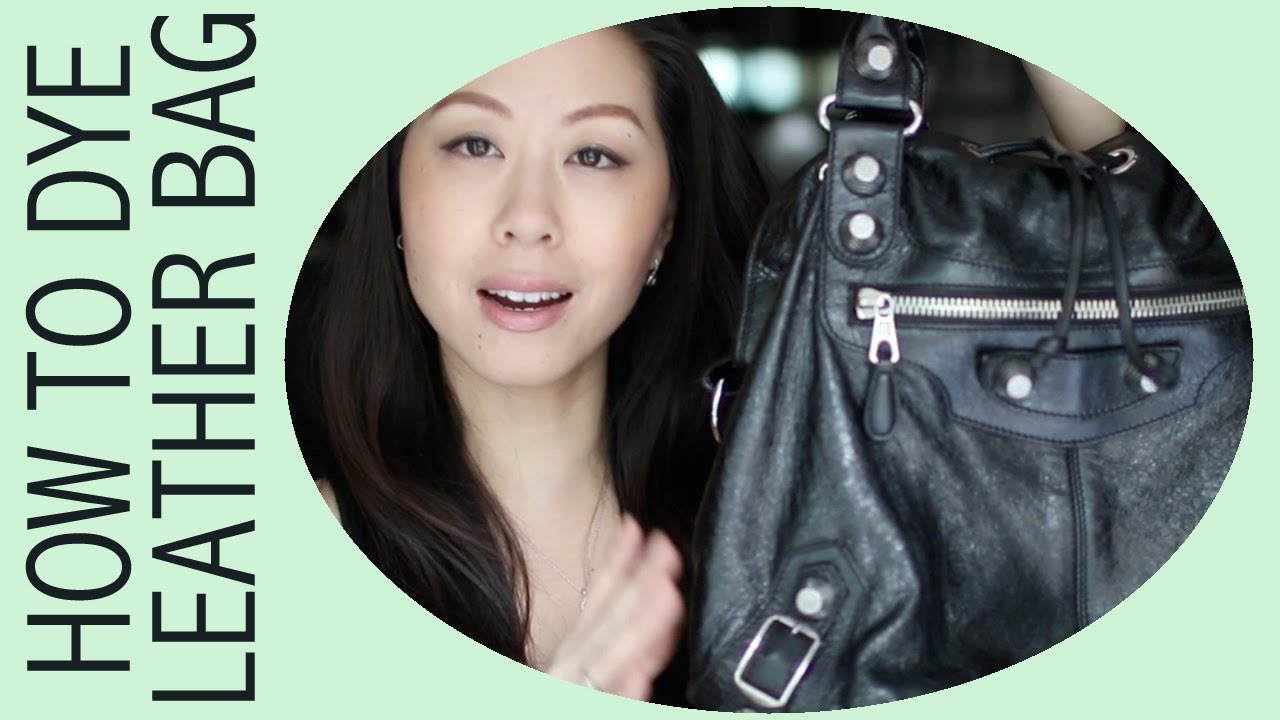 DIY - How to Dye a Leather Bag featuring Balenciaga Pompon - YouTube 67870fae0a0e6