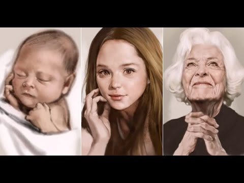 Amazing Time-Lapse Drawing of a Baby Growing Into an Old Woman