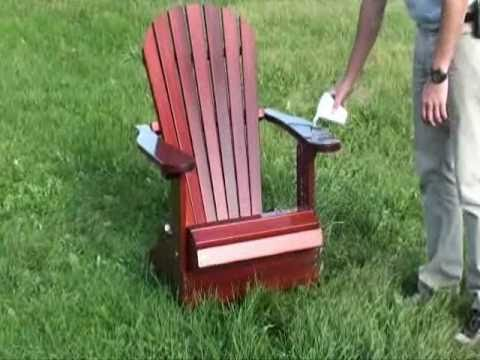 the best adirondack chair treatment video youtube. Black Bedroom Furniture Sets. Home Design Ideas