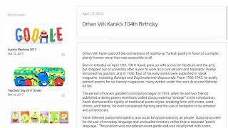 Orhan Veli Kanık's 104th Birthday