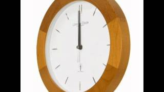 Radio Controlled Light Wood Wall Clock 27cm