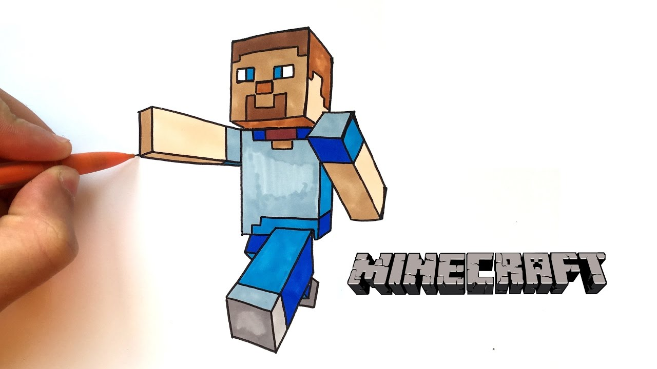 Dessin Steve Minecraft Youtube