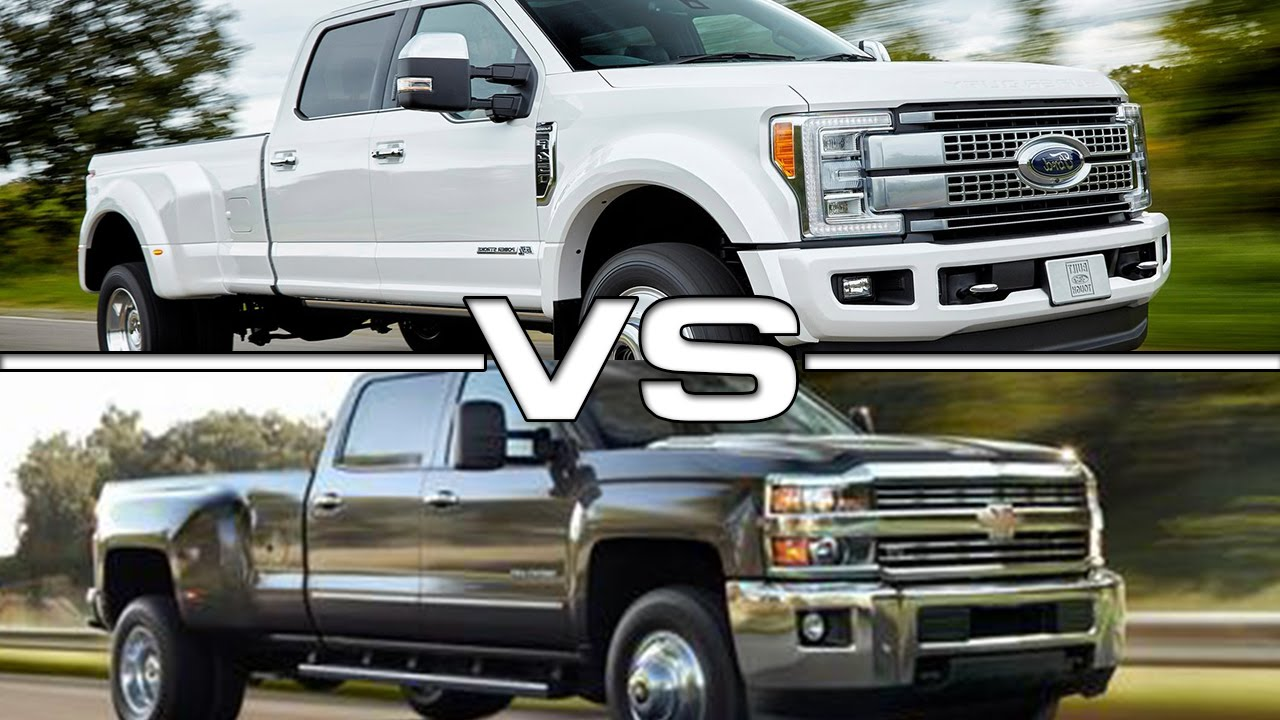 2017 Ford F-450 Super Duty vs 2016 Chevrolet Silverado 3500HD ...