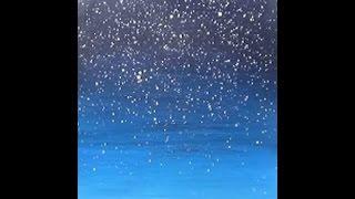 Acrylic Painting Easy Night Sky with Stars