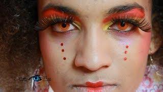 Kolorowe soczewki PartyEye Crazy - Czerwona Spirala / Red Contact Lenses