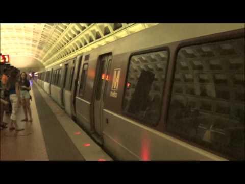 A Few Trains in The Washington Metro in Washington DC 6/16/2014