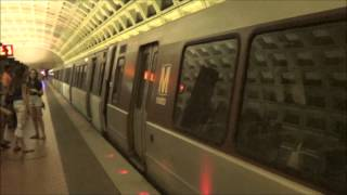A Few Trains in The Washington Metro in Washington DC 6/16/2014