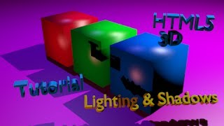Lambert Material with Shading and Lighting HTML5 3D Using Threejs Linux Tutorial