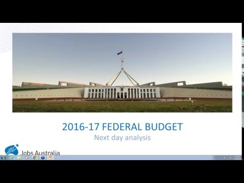 Federal Budget Analysis for Jobs Australia Members