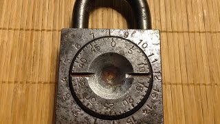 Repeat youtube video [45] Massive Vintage Combination Padlock (analysis and cracking)
