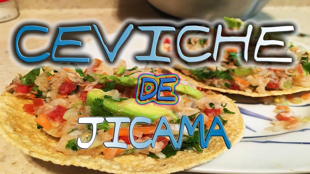 CEVICHE DE JICAMA (RECETA FACIL PARA CUARESMA) - EO094