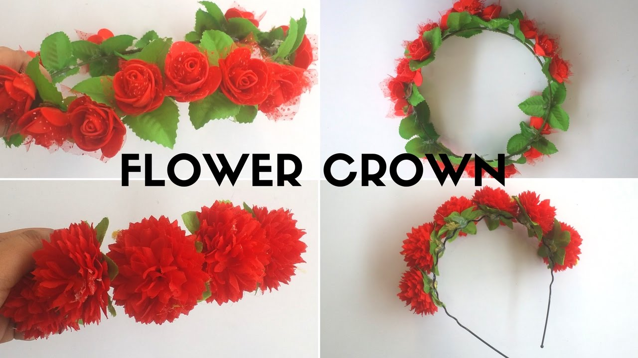 2 Easy Diy Flower Crown Headband Easy Tutorial Video For Kids