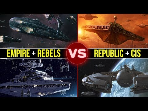 Empire and Rebels vs. Republic and CIS: Who Would Win? | Star Wars Galactic Versus