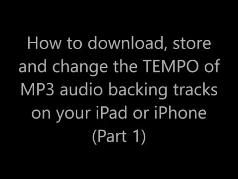 How to download mp3 backing tracks to iPad or iPhone - Part 1