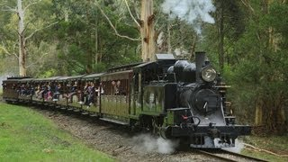 Puffing Billy Railway - Chasing the 8A Steam Locomotive