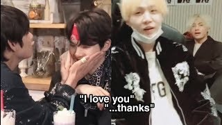taehyung and yoongi making each other flustered