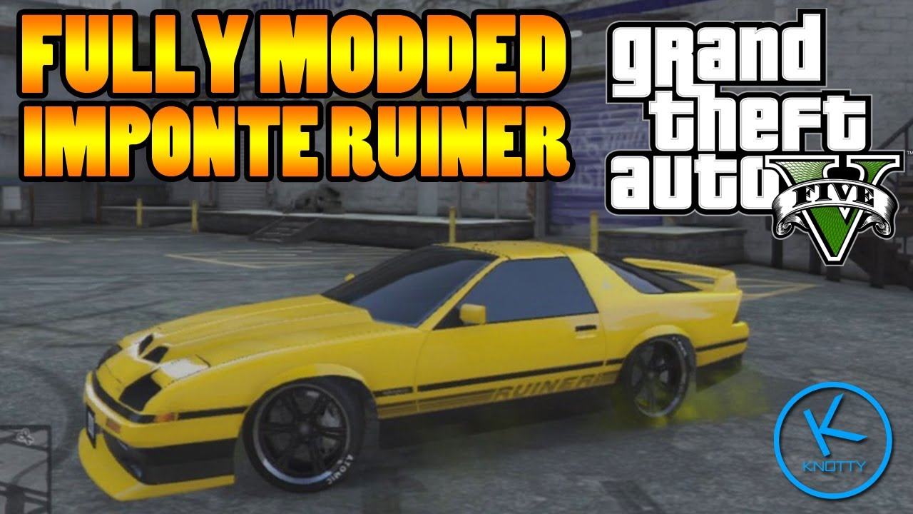 Cars 30k >> GTA 5 Fully Modified: IMPONTE RUINER ( GOOD DRIFT CAR ) - YouTube