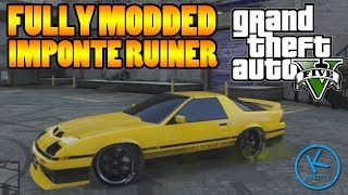 GTA 5 Fully Modified: IMPONTE RUINER ( GOOD DRIFT CAR )