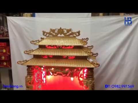 Bàn Thờ Thần Tài Cột Rồng Gỗ Pơmu Đẹp Giá Rẻ ở Hà Nội   Cửa hàng Hiếu Bằng