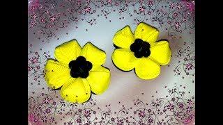Цветы из лент канзаши. Цветы  из лент. Как сделать цветы из лент