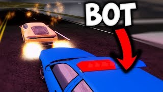 GETTING CHASED BY BOTS! - Vehicle Simulator (ROBLOX)