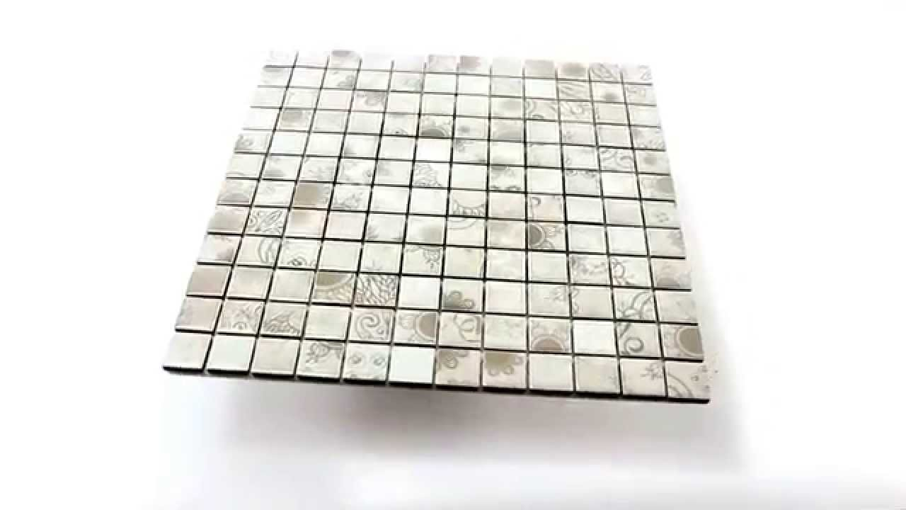 Keramik Mosaik Fliesen Laceo Grau - YouTube