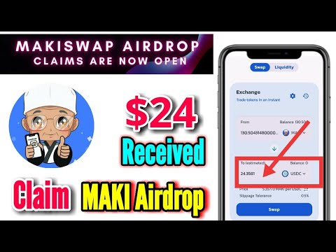 $24 profit🤑 Claim MAKI Airdrop| MakiSwap Airdrop claims are now  open 🔥#crypto #earn #money #Airdrop