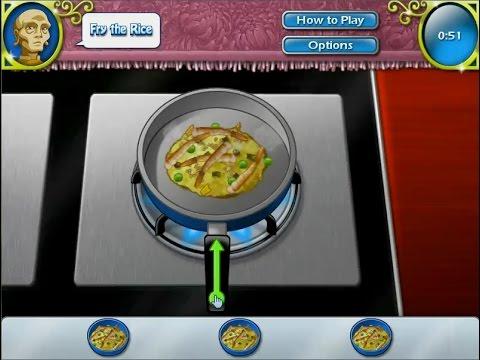 เกมส์ทำอาหารไทย ข้าวผัดกุ้ง - Thai fried rice Cooking Game 태국 볶음밥,タイのチャーハン,