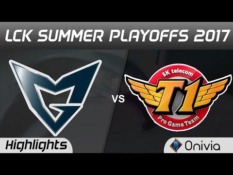 SSG vs SKT Highlights Game 3 LCK PLAYOFFS 2017 Round 2 Samsung vs SK Telecom T1 by Onivia