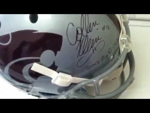 Collin Klein Signed Kansas State Football Replica Helmet KSU JSA COA Photo Proof