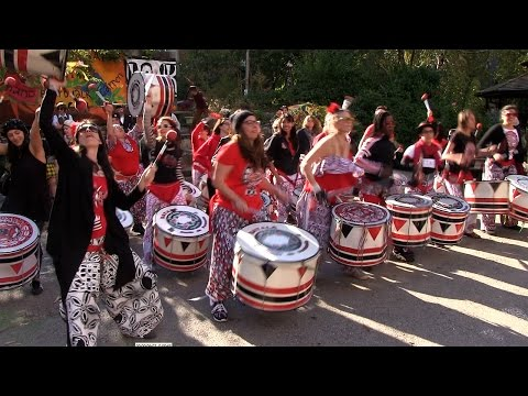 HONK NYC! 2015 - Batala NYC and Kings County Pipes and Drums - Oct 17