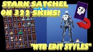 """Back Bling Showcase: Fortnite """"STARK SATCHEL"""" on ALL SKINS [322]! (""""SHADOWS RISING"""" Pack) Part 3/3"""