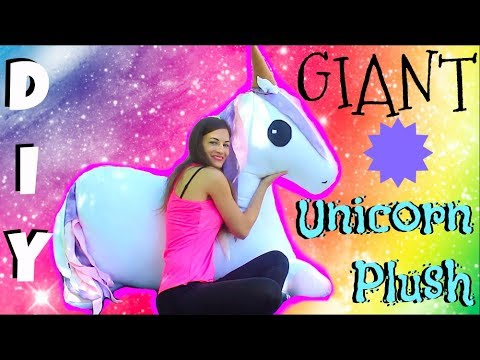 DIY GIANT Unicorn Plush- How To Make Stuffed Animal Tutorial- Comment faire peluche de licorne