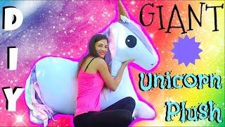 DIY GIANT Unicorn Plush ♥ How To Make Stuffed Animal Tutorial- Comment faire peluche de licorne
