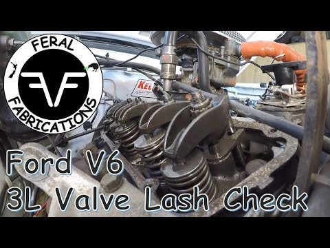 Valve Lash Check On A Ford Essex V6 Capri Youtube