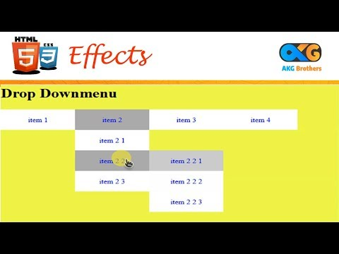 Dropdown Menu In HTML And CSS | AKG Brothers