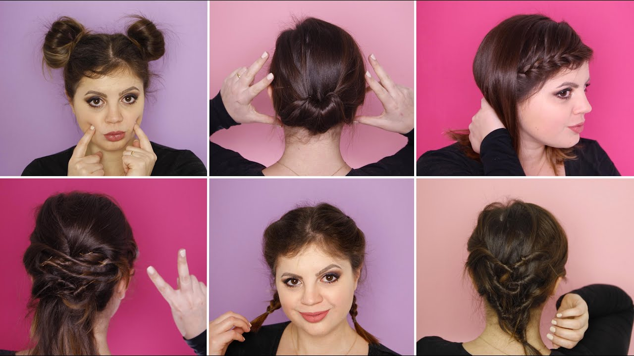 Top 6 acconciature FACILI per capelli CORTI - YouTube PN94