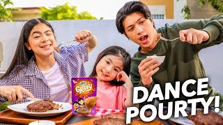 This GRAVY Makes Every Food Better! (It's A Dance POURty!) | Ranz and Niana ft. Natalia