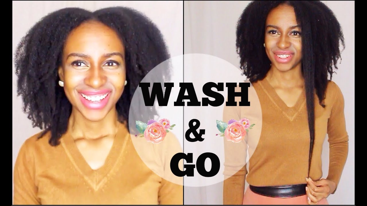 wash & go on 4c natural hair (water only wash update) - youtube
