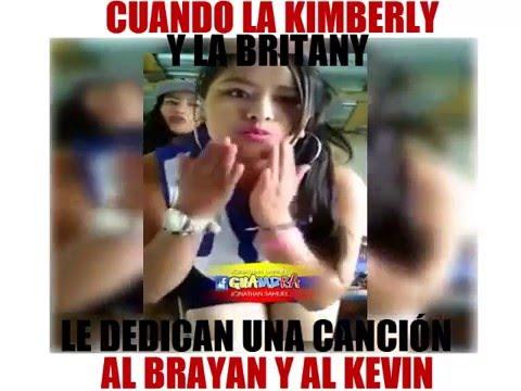 La britany y la kimberly le dedican una canción al brayan y al kevin , YouTube