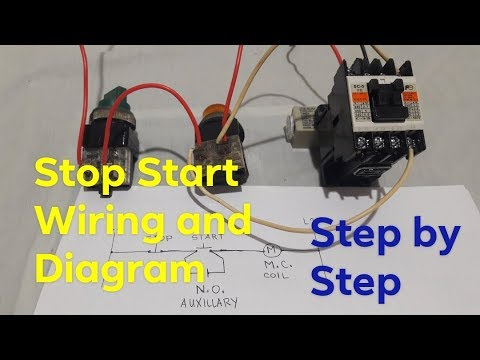 stop start magnetic contactor control circuit wiring tagalogdirect online   local electrician