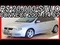 PASTORE R$ 20.000 #Fiat Stilo Connect 2007 Prata Bari aro 17 MT5 FWD 1.8 Flex 8v 114 cv 190 kmh