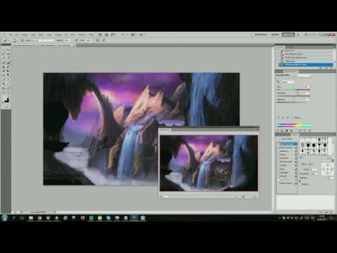 Digital Landscape Painting w/ Commentary (incl. Tips & Tricks)