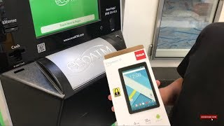 Selling my brand new android tablet at the eco-ATM!