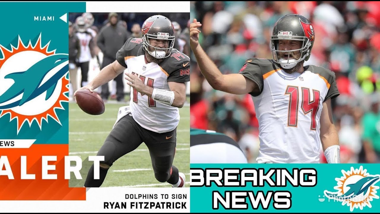 Dolphins agree to two-year deal with Ryan Fitzpatrick