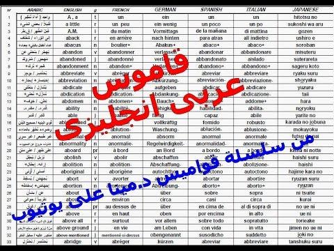 قاموس د. مينا عربى انجليزى Dr. Mina's Arabic English dictionary