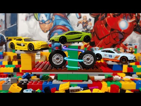 Машинки хот вилс на Lego трассе🔥🔥🔥hot wheels.