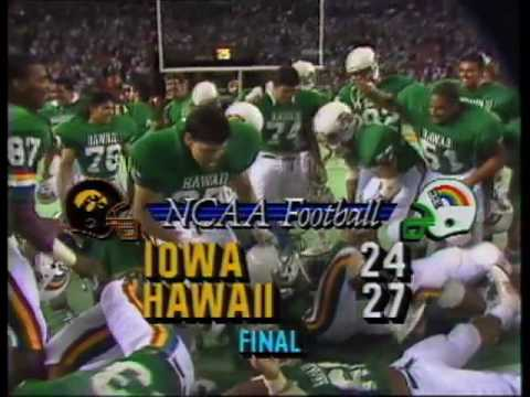Season Opener Sept. 3, 1988 Iowa vs. UH 27-24 Victory