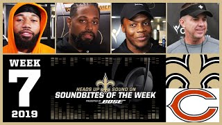 Saints Soundbites for Week 7 vs Chicago Bears | BOSE Soundbites | 2019 NFL