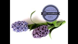 Quilling flowers 3D Hyacinthe (Part 1) Tutorial